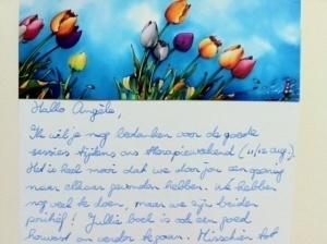 Bedankbriefje voor de relatietherapeut