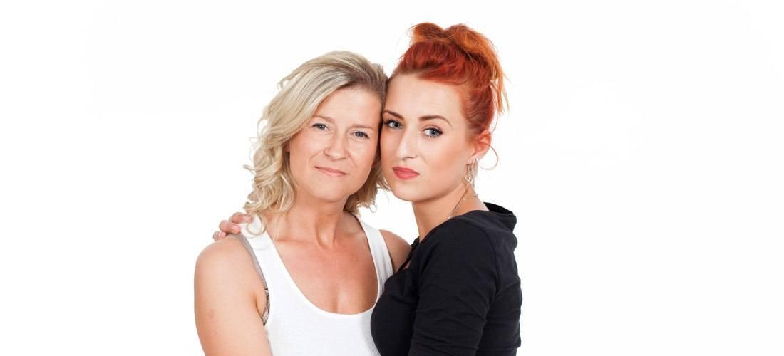 Moeder met volwassen dochter
